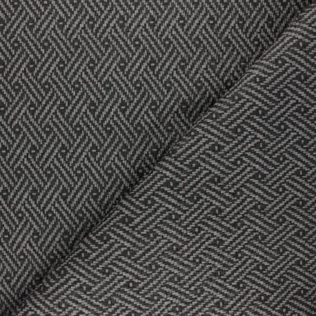 Braided Leather Imitation fabric - grey Kezia x 10cm
