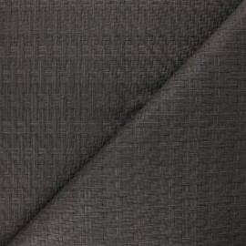 Braided Leather Imitation fabric - grey Rikka x 10cm