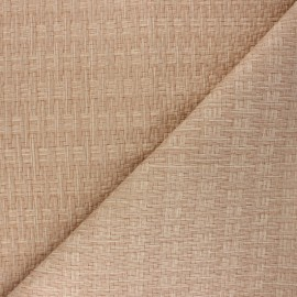 Braided Leather Imitation fabric - beige Rikka x 10cm