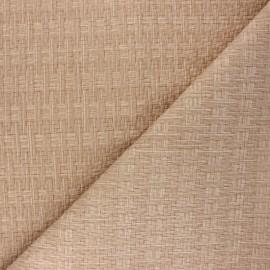 Simili cuir tressé Rikka - beige x 10cm