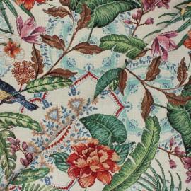 Jacquard fabric - raw Mésange x 50cm