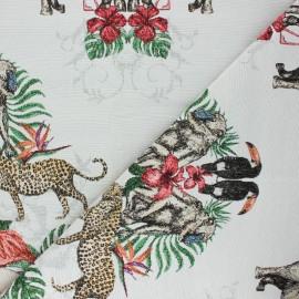 Tissu Jacquard lurex Savannah - blanc cassé x 50cm
