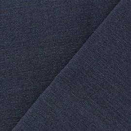 Tissu toile de coton uni Demi Natté Vintage - bleu jean x 10cm