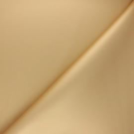 Smooth Imitation leather fabric - gold x 10cm