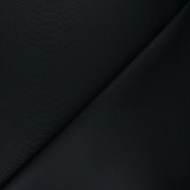 Imitation leather fabric - black Ecailles x 10cm