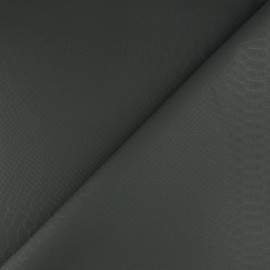 Tissu Simili cuir souple Ecailles - kaki foncé x 10cm