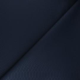 Imitation leather fabric - navy blue Ecailles x 10cm