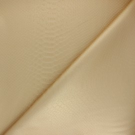 Imitation leather fabric - gold Ecailles x 10cm