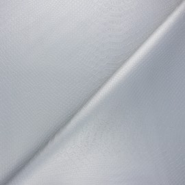 Imitation leather fabric - silver Ecailles x 10cm