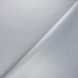 Tissu Simili cuir souple Ecailles - argent x 10cm