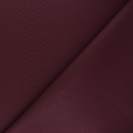 Imitation leather fabric - burgundy Ecailles x 10cm