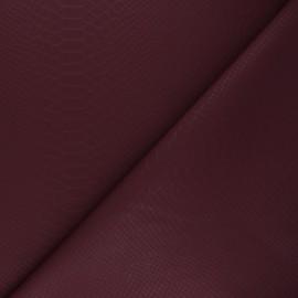 Tissu Simili cuir souple Ecailles - bordeaux x 10cm