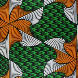 Wax print fabric - green Kyoga x 10cm