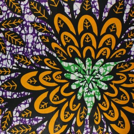 Wax print fabric - purple Naga x 10cm