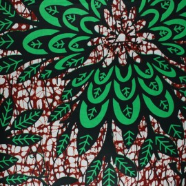 Tissu Wax Naga - rouge x 10cm