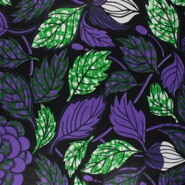 Wax print fabric - purple Tali x 10cm