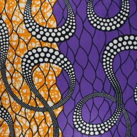 Tissu Wax Marula - violet x 10cm
