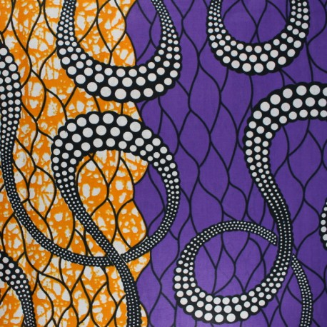 Wax print fabric - purple Marula x 10cm