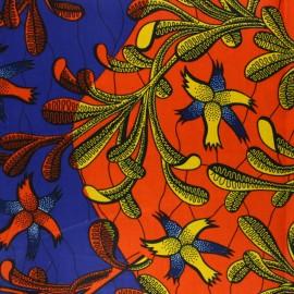 Tissu Wax Iroko - multicolore x 10cm