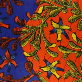 Wax print fabric - multicolor Iroko x 10cm
