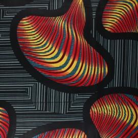 Tissu Wax Tiama - noir x 10cm