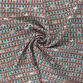 Lurex polyester fabric - red Neela x 10cm