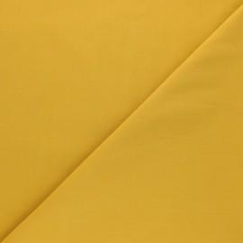 Tissu Popeline de coton uni Tonalité - jaune moutarde x 10cm