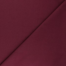 Cotton poplin fabric - burgundy Tonalité x 10cm
