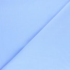 Tissu Popeline de coton uni Tonalité - bleu layette x 10cm