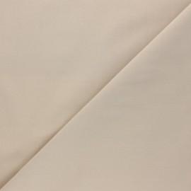 Tissu Popeline de coton uni Tonalité - sable clair x 10cm
