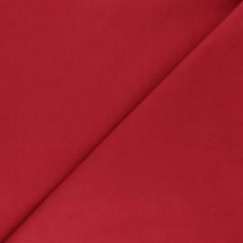 Tissu Popeline de coton uni Tonalité - rouge x 10cm