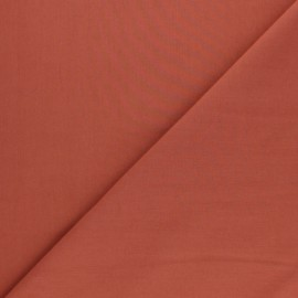 Tissu Popeline de coton uni Tonalité - rouille x 10cm