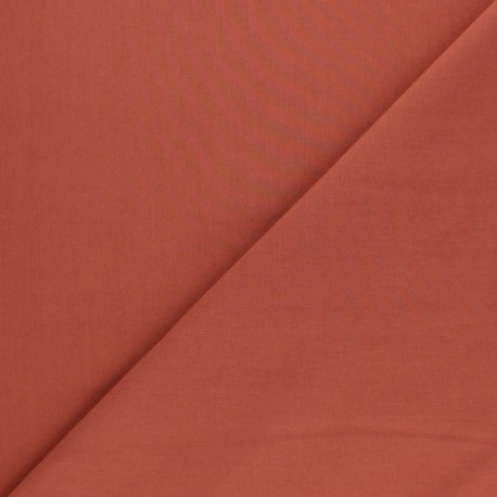 Cotton poplin fabric - rust red Tonalité x 10cm