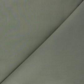 Tissu Popeline de coton uni Tonalité - kaki x 10cm