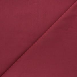 Tissu Popeline de coton uni Tonalité - lie de vin x 10cm