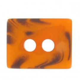 Wool rectangle-shaped buttton - orange