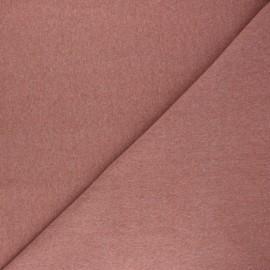 Jersey tubulaire Recyclé 1/1 - bois de rose chiné x 10cm