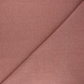 Recycled tubular jersey fabric - mottled rosewood x 10cm