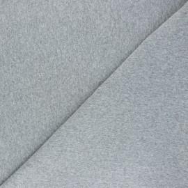 Jersey tubulaire Recyclé 1/1 - gris clair chiné x 10cm