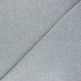 Recycled tubular jersey fabric - mottled light grey x 10cm