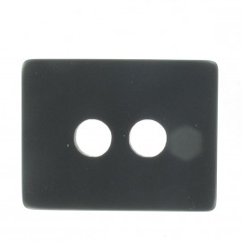 Bouton Laine rectangle noir