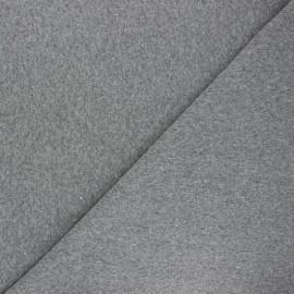 Jersey tubulaire Recyclé 1/1 - gris chiné x 10cm