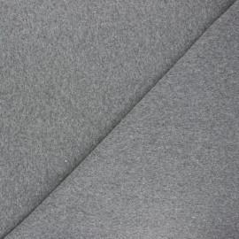 Recycled tubular jersey fabric - mottled grey x 10cm