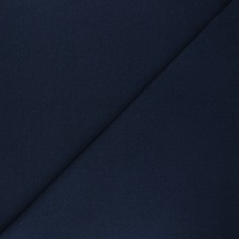 Recycled tubular jersey fabric - navy blue x 10cm