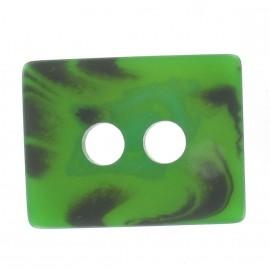 Wool rectangle-shaped buttton - green