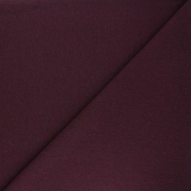 Jersey tubulaire Recyclé 1/1 - prune chiné x 10cm
