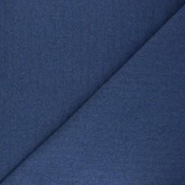 Jersey tubulaire Recyclé 1/1 - bleu chiné x 10cm