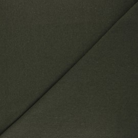 Recycled tubular jersey fabric - khaki green x 10cm