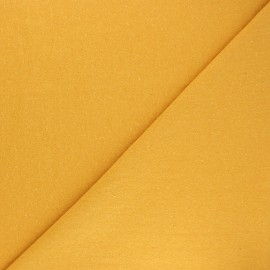 Recycled tubular jersey fabric - mustard yellow x 10cm
