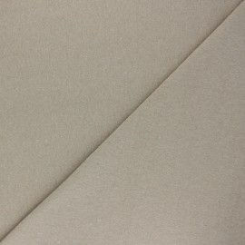 Recycled tubular jersey fabric - mottled taupe grey x 10cm